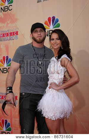 LOS ANGELES - MAR 29:  Brantley Gilbert, Amber Cochran at the 2015 iHeartRadio Music Awards at the Shrine Auditorium on March 29, 2015 in Los Angeles, CA