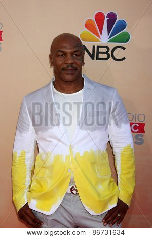 LOS ANGELES - MAR 29:  Mike Tyson at the 2015 iHeartRadio Music Awards at the Shrine Auditorium on March 29, 2015 in Los Angeles, CA