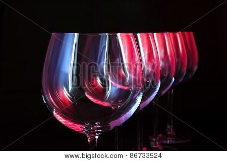 Nightclub wine glasses