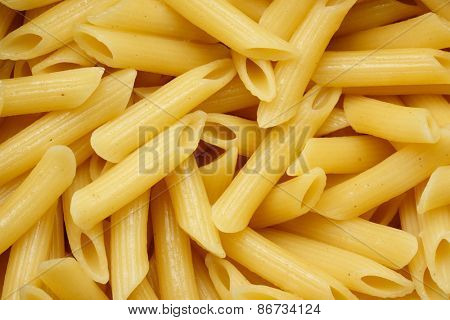 Italian pasta close up. Food background texture