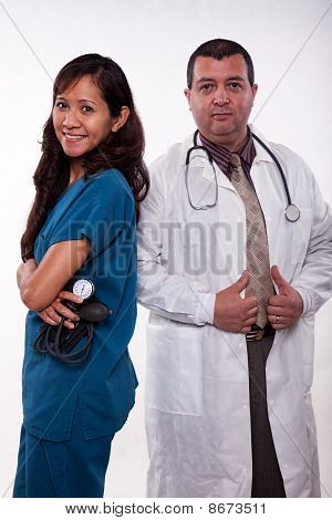 Attractive Multi Racial Medical Team