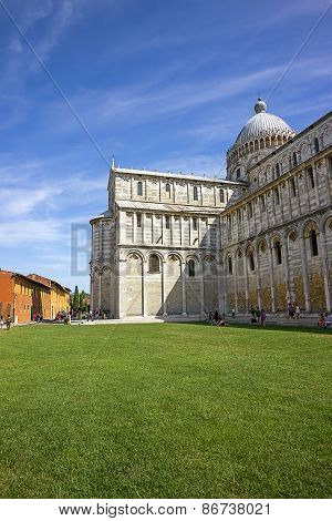 Pisa Cathedral In Italy In Summertime