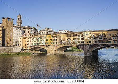 Ponte Vecchio Bridge In Florence In Italy