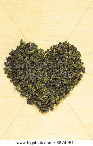 Green Tea Leavesheart Shaped