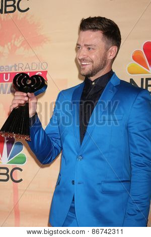 LOS ANGELES - MAR 29:  Justin Timberlake at the 2015 iHeartRadio Music Awards Press Room at the Shrine Auditorium on March 29, 2015 in Los Angeles, CA