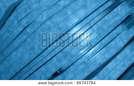 3d background with abstract blue panels