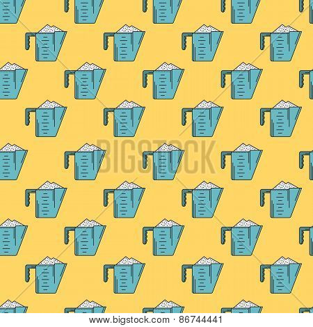 Colored vector background for measuring cup