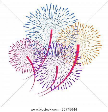 vector fireworks