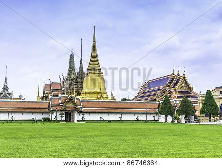 Grand Palace And Temple In Bangkok Thailand