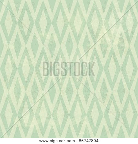 Seamless Vintage Rhombus Pattern. With Grunge Textured Background.