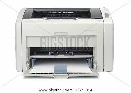 Printer With Paper Front