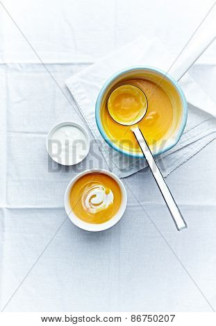 Cream of pumpkin soup with cream cheese
