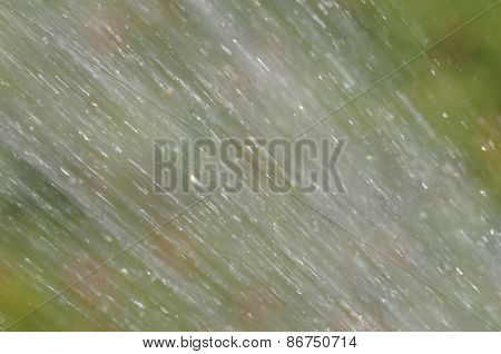 abstract blurred background of water sprayed over flowers