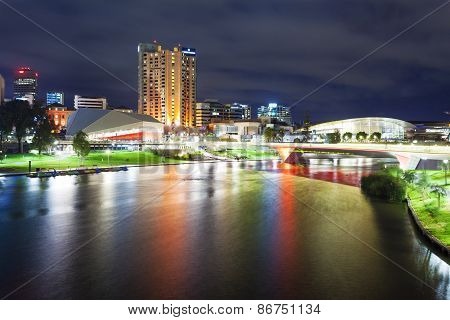 Adelaide in South Australia at night