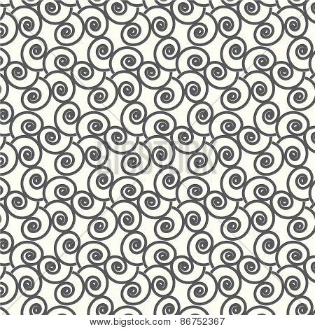 Seamless Vector Swirl Wave Japanese Pattern Background
