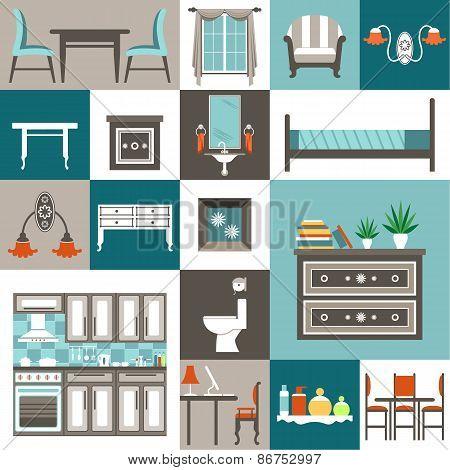 Set furniture.