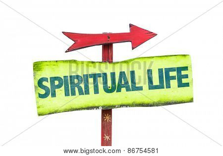 Spiritual Life sign isolated on white
