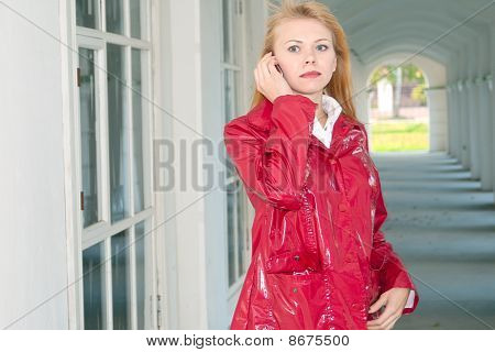 Portrait Of The Girl With Phone