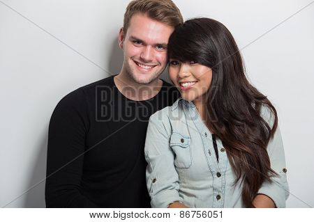 Happy Young Multiculture Couple