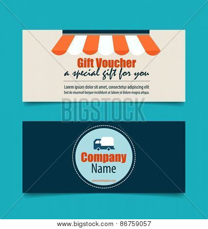 Gift coupons with Business concept, Infographics background. Vector illustration.