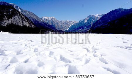 Snow Winter Landscape And Mountain View