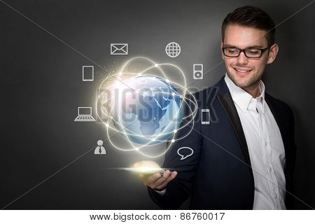 Businessman Connected Through