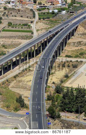 Modern highway, Lorca, Murcia, Spain