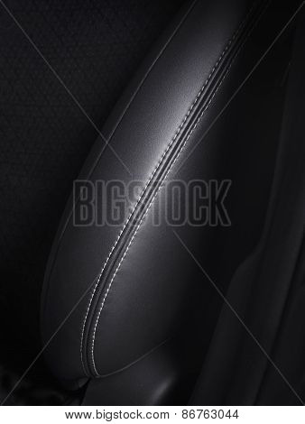 Detail of leather car chair