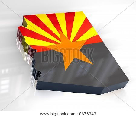 3D Flag Map Og Arizona