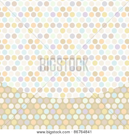Polka dot background, pattern, pastel dot on white background. Vector