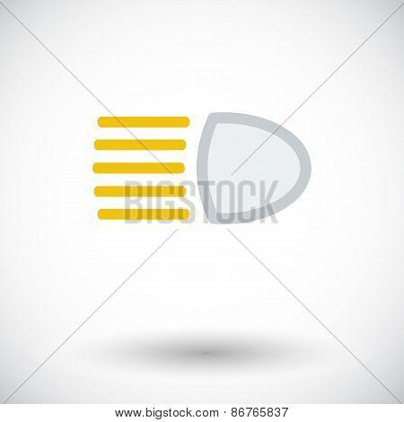 Headlight icon.