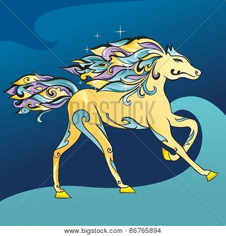 Arabic Horse Vector Illustration