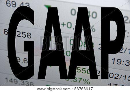 Inscription GAAP on PC screen