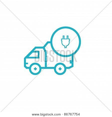 Icon for vehicle delivery services and goods