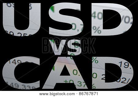 USD vs cad.
