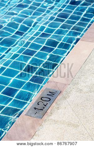 part of swimming pool for detail of deep