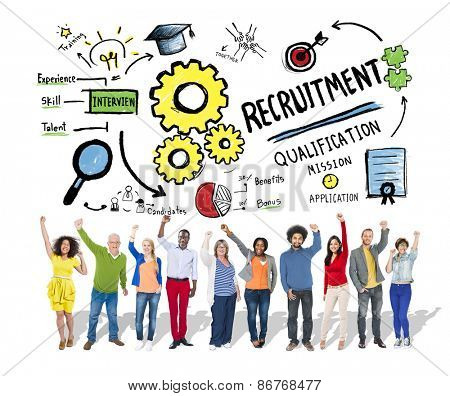 Ethnicity Peolple Recruitment Goal Cheerful Celebration Concept