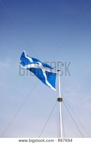 Scottish Flag on pole