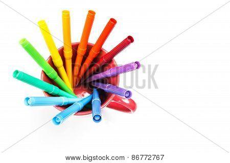 felt tip pens rainbow