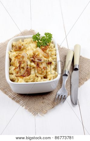 Cheese Spaetzle With Roasted Onions And Parsley