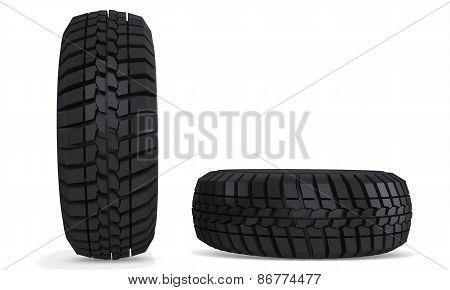 3D Truck Wheels Tires