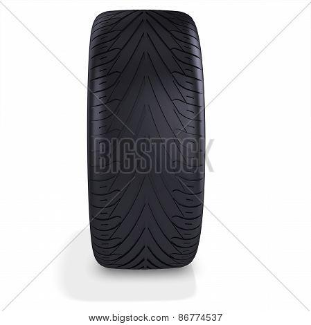 3D Car Tire, Wheel