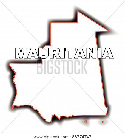 Outline Map Of Mauritania