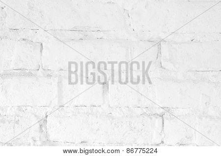 White Bricks Wall Texture Background
