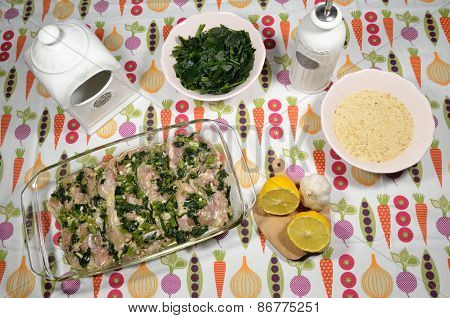 Preparing Poultry Meat With Herbs