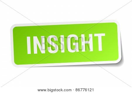 Insight Green Square Sticker On White Background