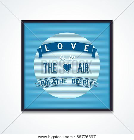 creative poster about love