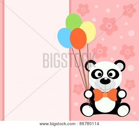 Background card with panda