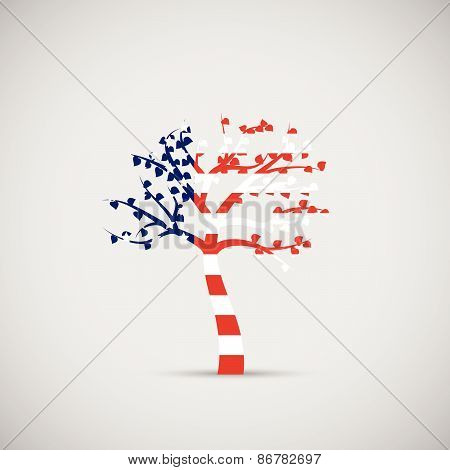 Usa Abstract Tree