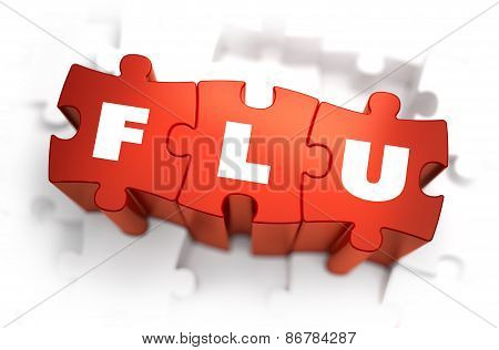 Flu - Text on Red Puzzles.